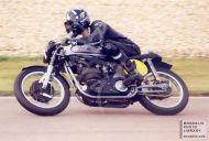 Damon Hill riding a 500 Norton
