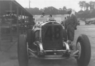 A Mercedes in the Brooklands paddock hm112