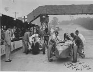 Kay Petre at Brooklands Track hr207