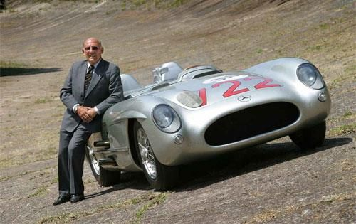 Stirling Moss with Mercedes 722 at Brooklands RT9
